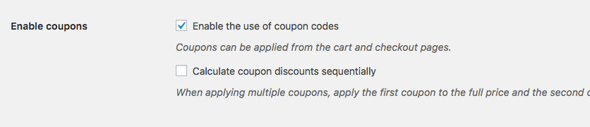 WooCommerce Coupon Not Working Due To Coupons Being Disabled