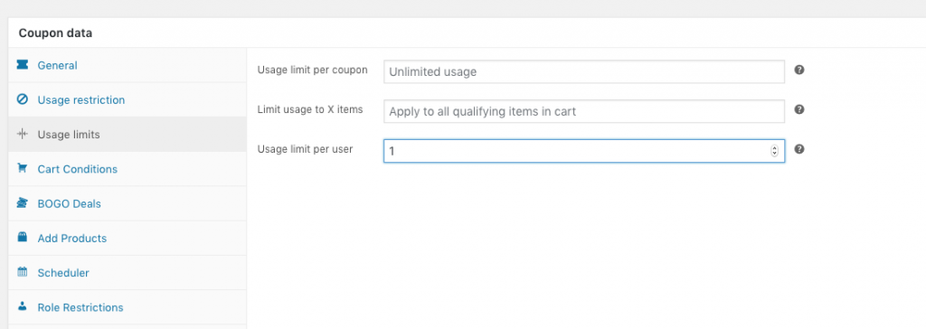 WooCommerce Welcome Coupon Usage Limits