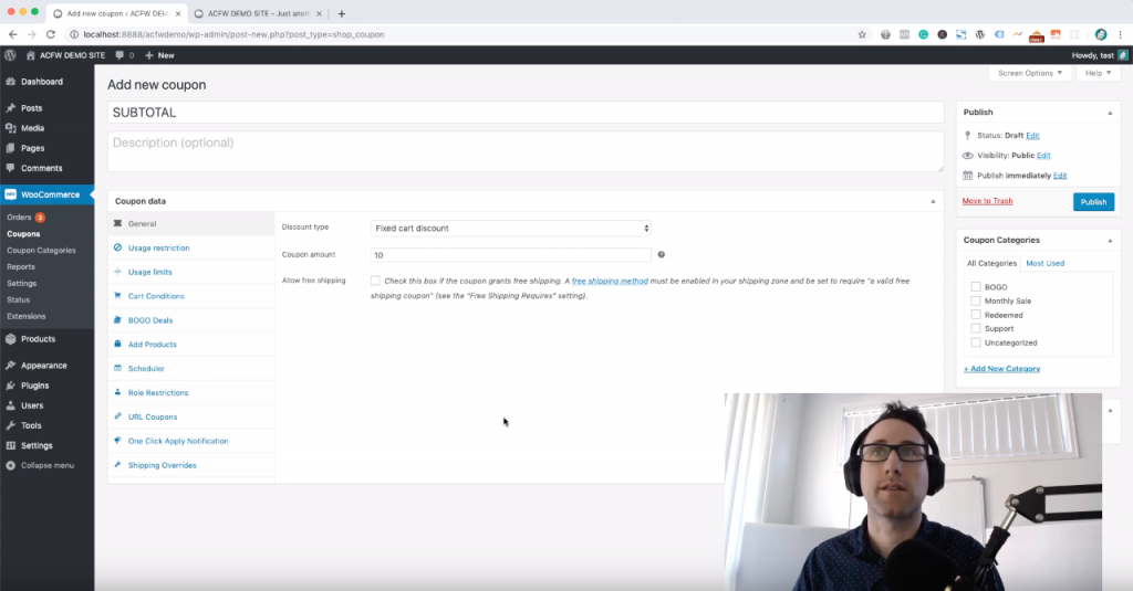 WooCommerce Auto-apply Coupon Based On Subtotal