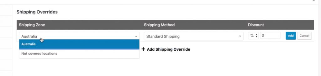 WooCommerce Coupon Shipping Discount - Set the shipping zone