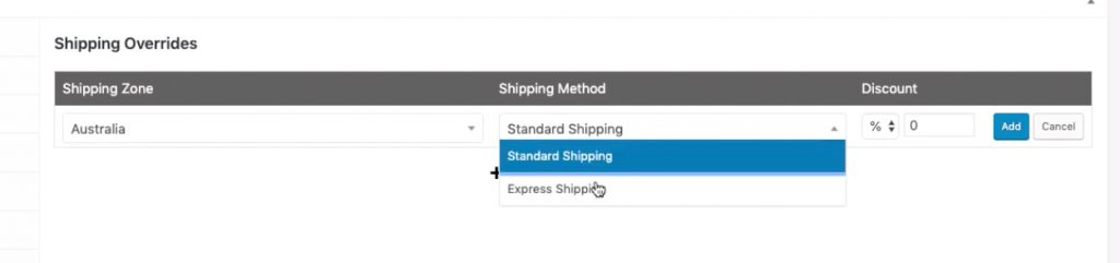 WooCommerce Coupon Shipping Discount - Set the shipping method