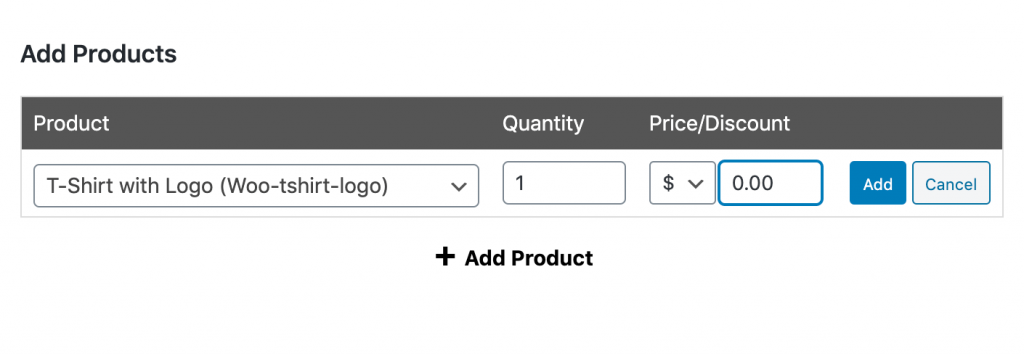 Setting the override price to zero for the free product.