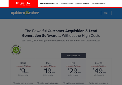 An example of a site-wide discount