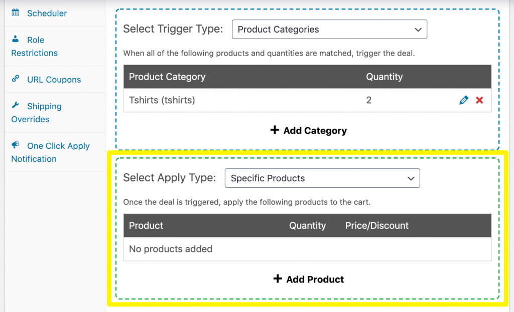 Selecting how to apply the BOGO discount to create a Buy 2 Get 1 Half Price deal.