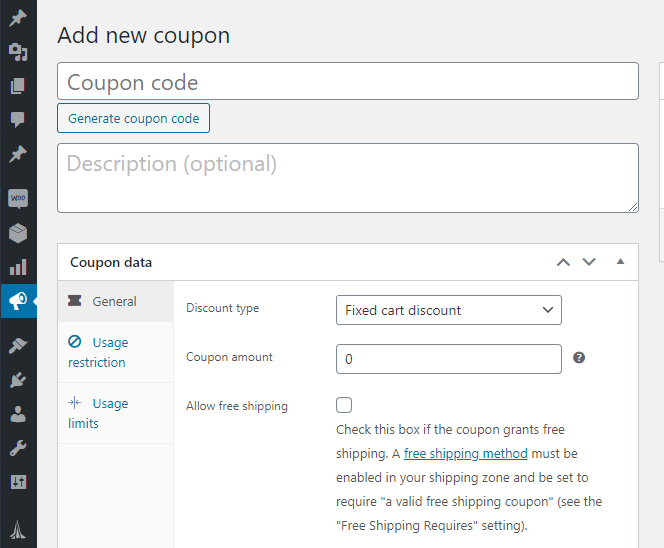 Coupons in WooCommerce