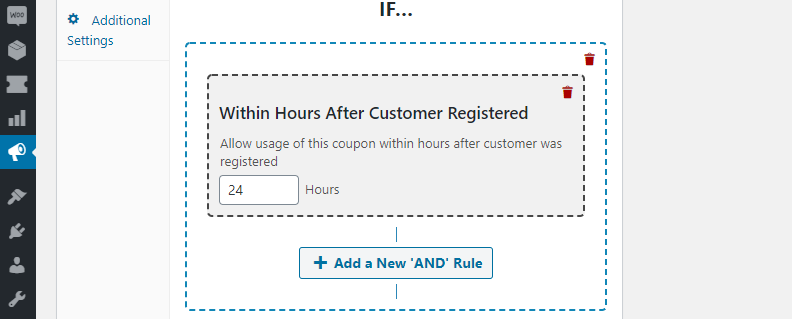 A coupon with a one day limit.
