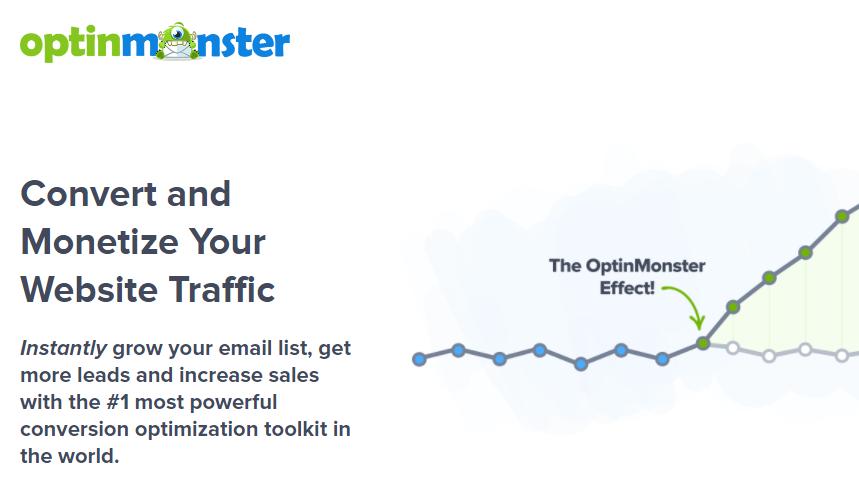 The OptinMonster homepage.