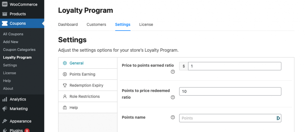 price to points earned ratio rewards program