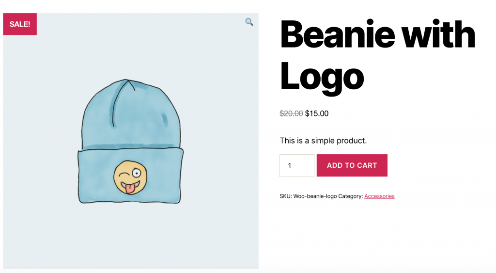 A product in the WooCommerce store.