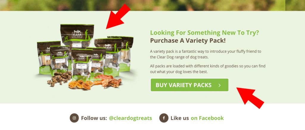 Advertise product bundles on your homepage to increase traffic