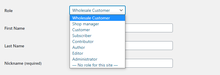 Changing user roles in WooCommerce