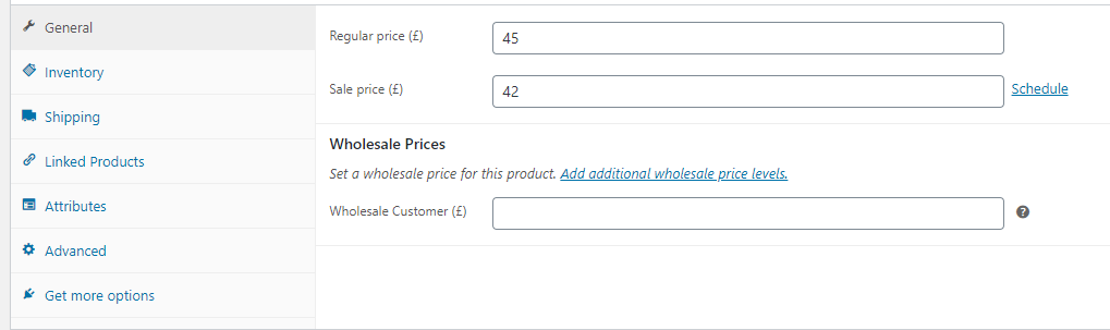 Setting wholesale prices for your store
