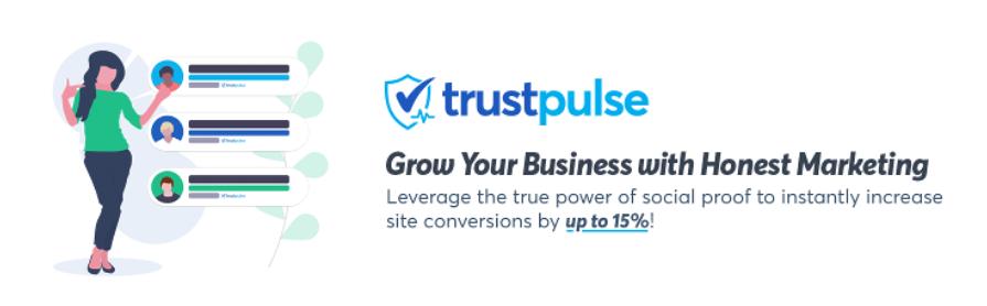 The TrustPulse plugin.