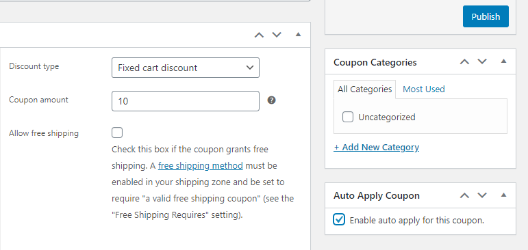 Enabling auto-apply for a WooCommerce cart discount