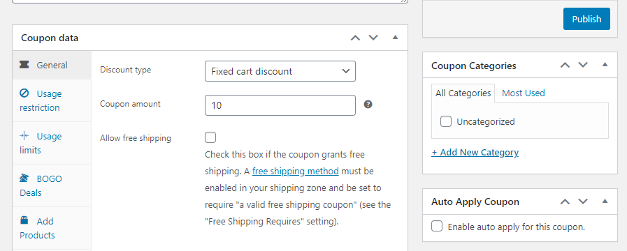 Offering a fixed-cart discount