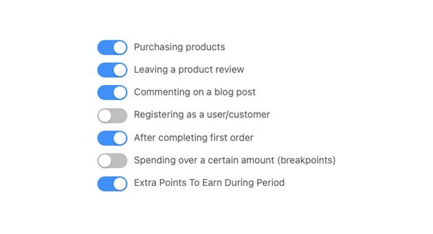 Points Earning Options Loyalty Program WooCommerce