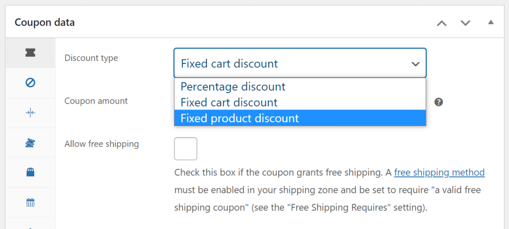 Choosing what type of coupon to use
