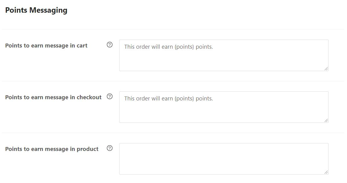 Customizing the points messaging in the Loyalty Program