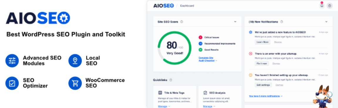 All-In-One SEO is a WordPress plugin that helps you improve your SEO across your entire store.