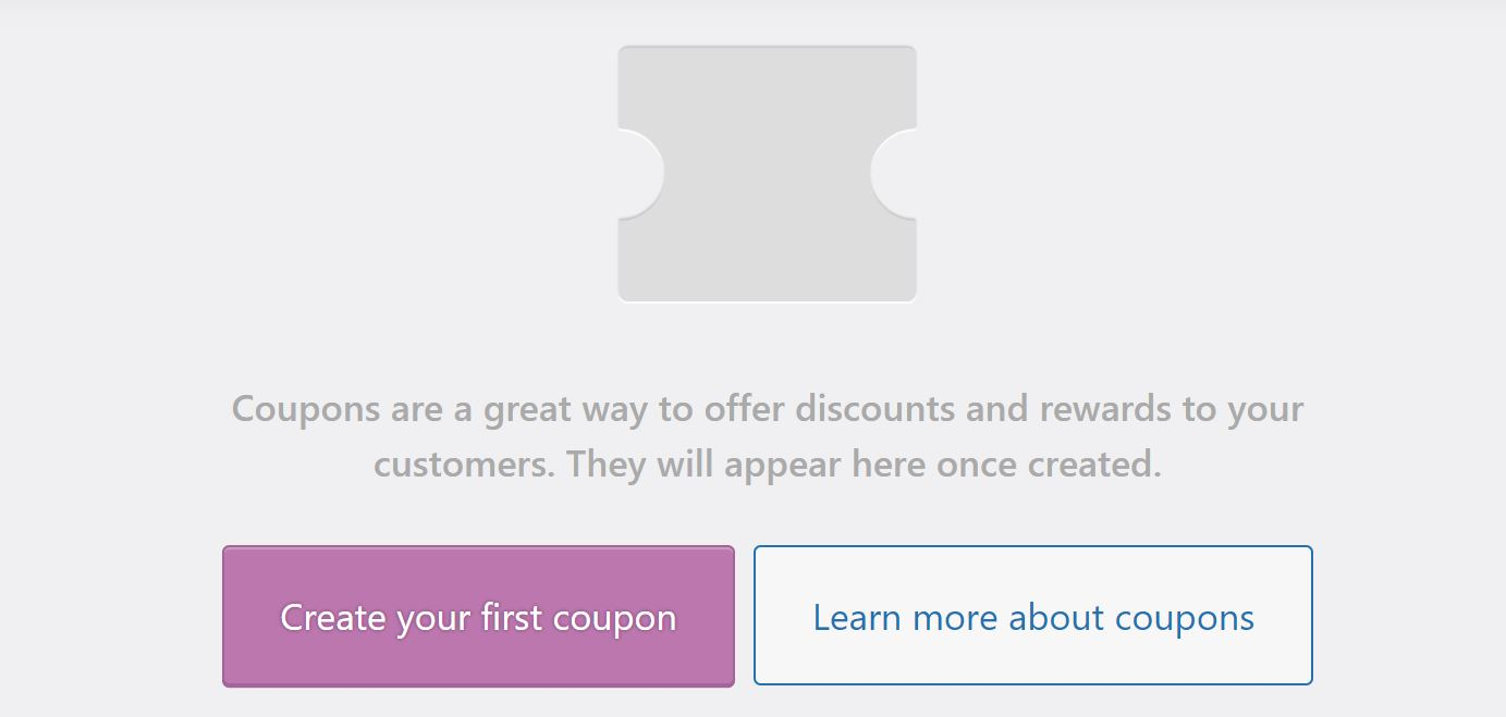 The option to create a new coupon in WooCommerce.