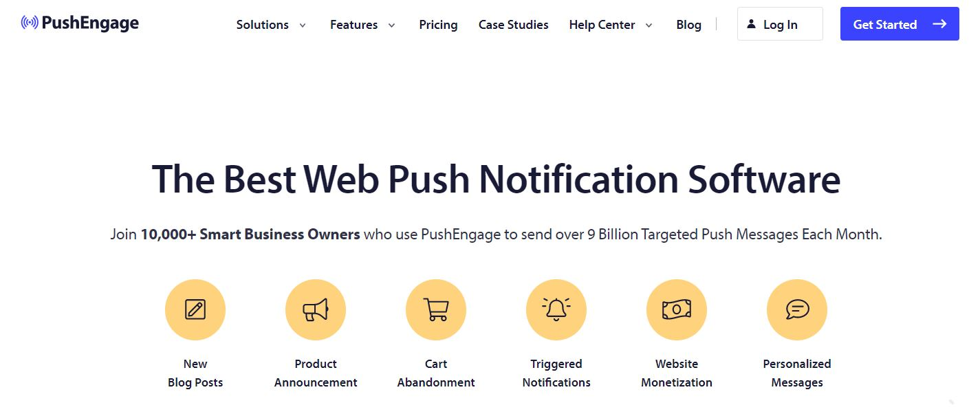 PushEngage is one of the best WooComemrce plugins to increase sales as it sends automatic push notifications to your clients.