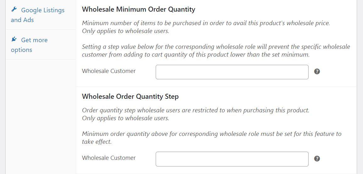 The option to set up a wholesale minimum order quantity in Wholesale Suite.