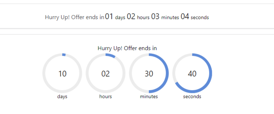 WooCommerce sales countdown timer