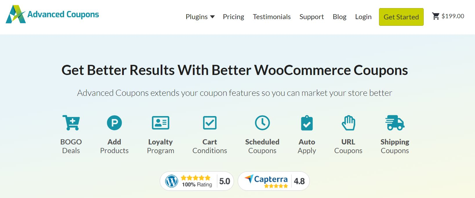 Advanced Coupons is one of the best WooCommerce marketing plugins for your site.