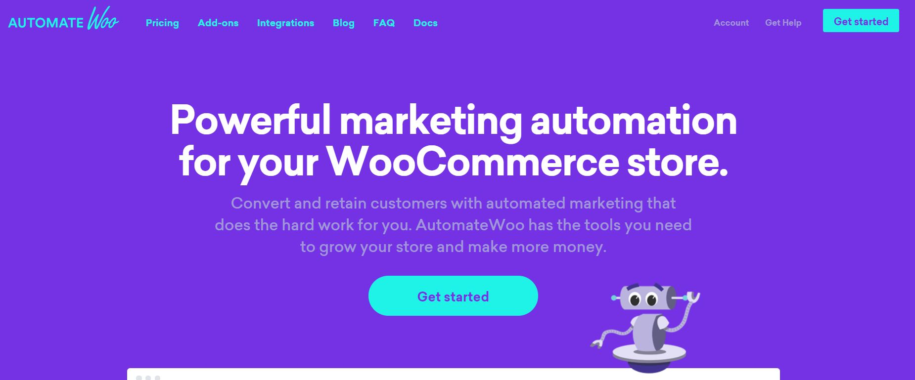 The AutomateWoo homepage