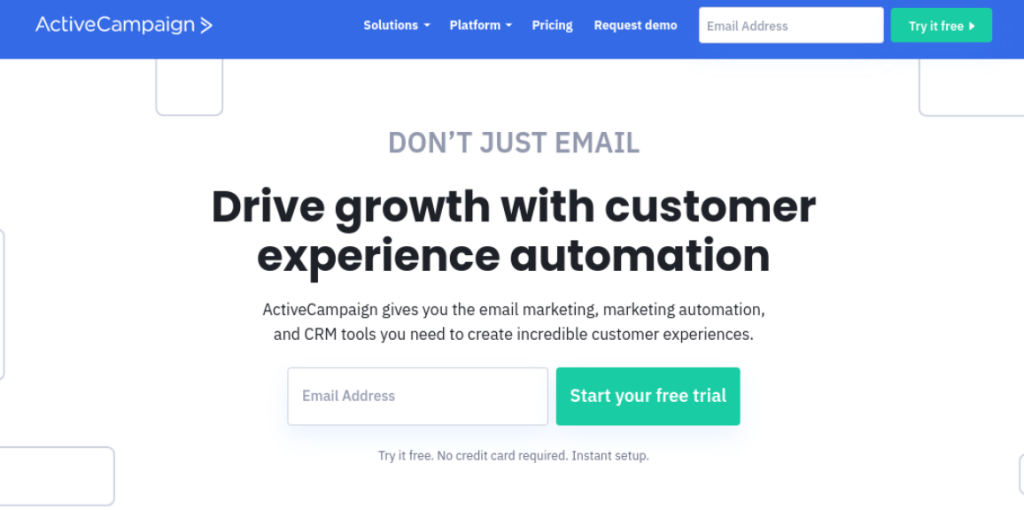 The ActiveCampaign email marketing WooCommerce tool.